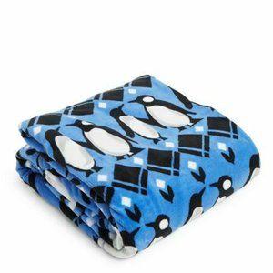 Vera Bradley Throw Blanket Penguins Intarsia Blue